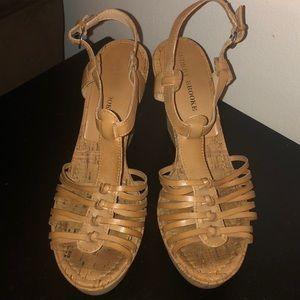 Brown summer shoes